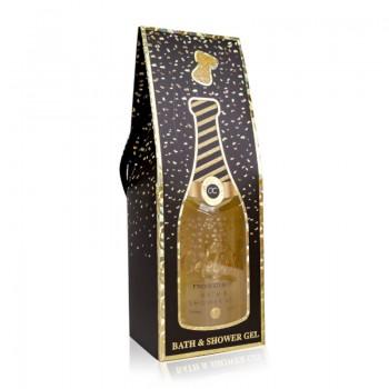 360ml bath & shower gel CELEBRATION in bottle incl. gift box in champagne bottle look, Warm Vanilla Sugar | BE 6