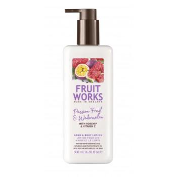 FRUITWORKS Passion Fruit & Watermelon Hand en Body lotion | 500 ml