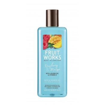 FRUITWORKS Raspberry & Mango Bath & Shower Gel   500 ml